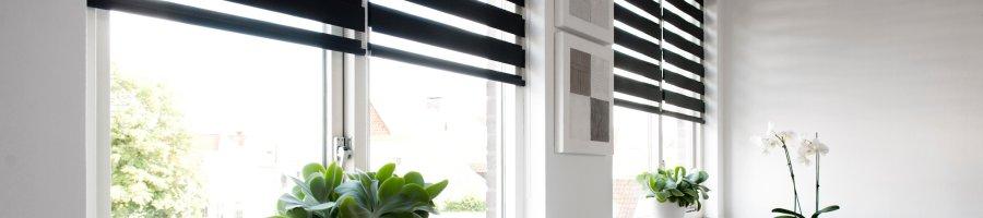 Duo rolgordijn duorolgordijnen vanaf 24 99 for Raamdecoratie slaapkamer verduisterend