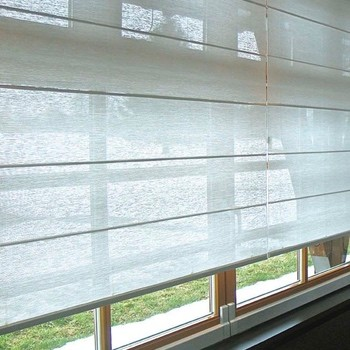 vouwgordijnen raambekleding voor erker